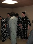Changing into our Yukata