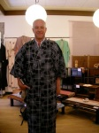 Doug in a Yukata (too small)