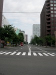 Downtown Sapporo - Reminds me of Salt Lake City