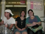 Evelyn, Michelle and Kat on the Train