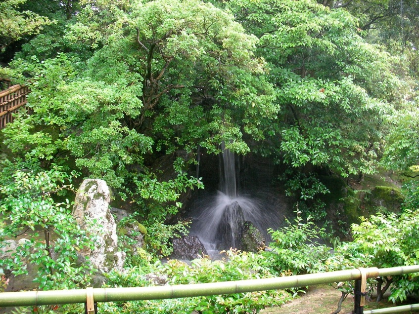 Kinkakuji Shrine Grounds - Waterfall
