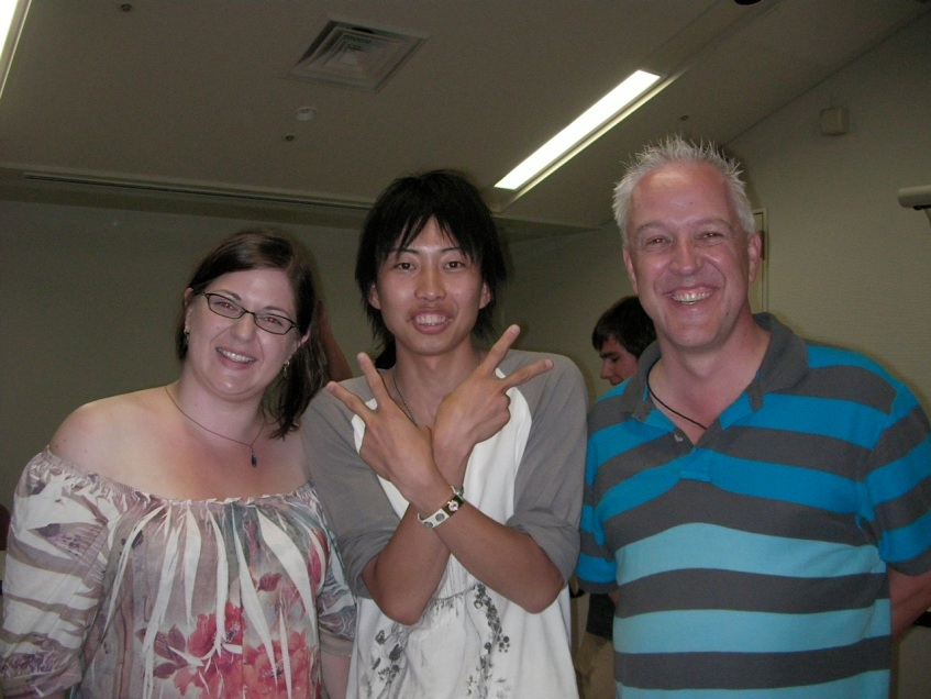 Kitty, Takamasa and Yours Truly