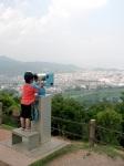 My buddy checks the view, Arashiyama