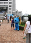Odaiba - Blue Dog Mascot