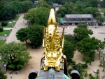 Osaka Castle - View from the Top and Golden Dolphin