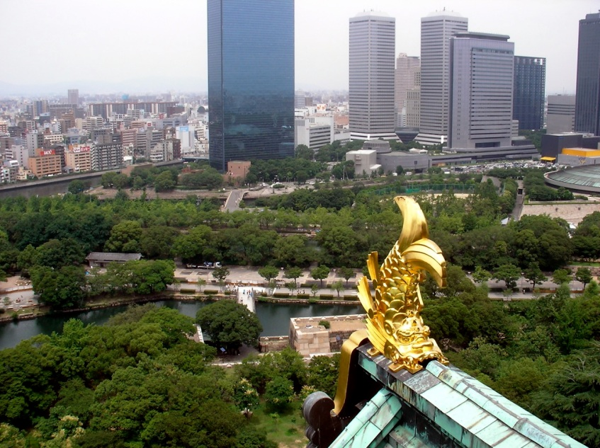 Osaka Castle - View from the Top