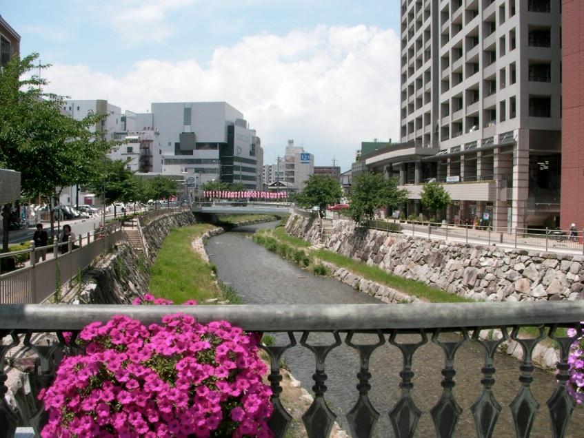 Riverside in Matsumoto