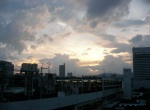 View from my hotel window - Hiroshima Station at Sunset