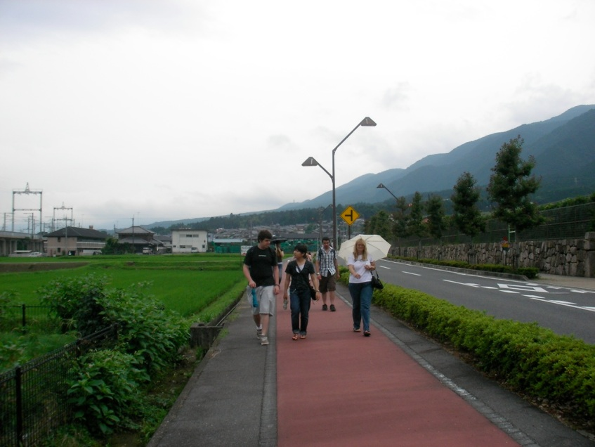 Walking to the Conference Center