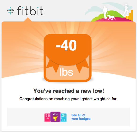 Earned May 23, 2013 at a weight of 165.6 pounds.